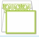 Lime Border Small Flat Cards w/Coordinating Liner