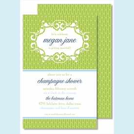 Lime Chain Link Large Flat Invitation - click to enlarge