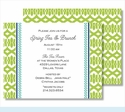 Lime Lattice Ribbon w/ Turquoise Braid Small Flat Cards