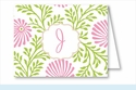 Lime/Pink Floral Note Cards