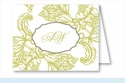 Lime Wood Cut Floral Note Cards