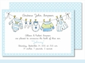 Little Boy's Clothes Large Flat Invitation