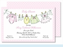 Little Girl's Clothes Large Flat Invitation