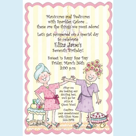 Little Spa Girls Invitation - click to enlarge