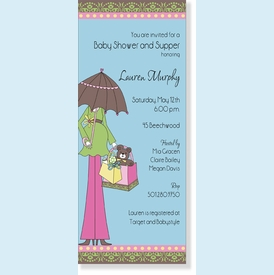 Long Baby Shower Umbrella Invitation - click to enlarge