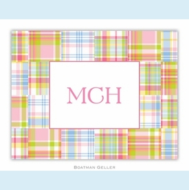 Madras Patch Pink Folded Notes (set/25) - click to enlarge