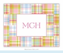 Madras Patch Pink Folded Notes (set/25)
