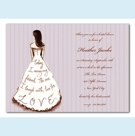 Marry My Friend Lavender Invitation - click to enlarge