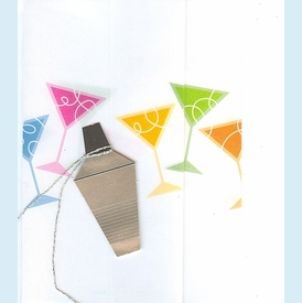 Martini Cocktail Shaker Invitations - click to enlarge