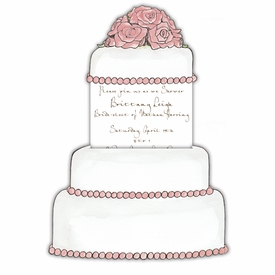 Marzipan Wedding Cake Invitation - click to enlarge