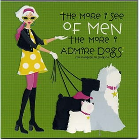 Men or Dogs Square Magnet - click to enlarge
