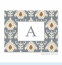 Mia Ikat Gray Folded Notes (set/25)