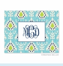 Mia Ikat Teal Folded Notes (set/25)