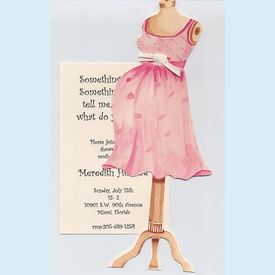 Mom-to-Be Mannequin Invitation - click to enlarge