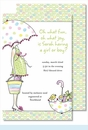 Mommy to Be-Multi Color Large Flat Invitation