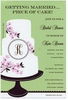 Monogram Cake Invitation