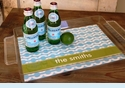 Monogrammed Acrylic Tray by Clairebella