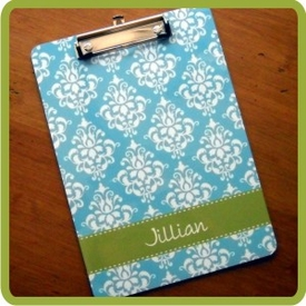 Monogrammed Clipboard by ClaireBella - click to enlarge