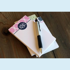 Monogrammed Small Notes - click to enlarge