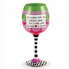 Mother's Heart Wine Glass