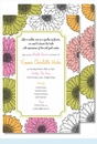 Multi Sunflowers Large Flat Invitation