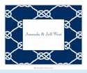 Nautical Knot Navy Folded Notes (set/25)