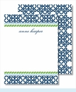 Navy Clover w/Kelly Rope Small Flat Cards