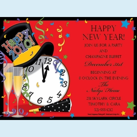 New Years Bash Invitation - click to enlarge