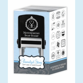 Noteworthy Personalized Snap Stamp Gift Box & Certificate - click to enlarge