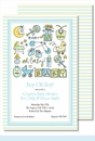 Oh Baby Boy Large Flat Invitation