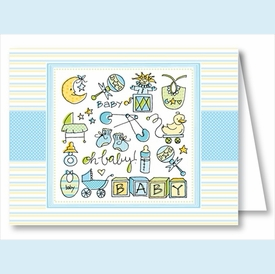 Oh Baby Boy Note Cards - click to enlarge