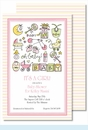 Oh Baby Girl Large Flat Invitation