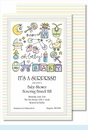 Oh Baby Multi Large Flat Invitation