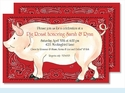 Oink Oink Large Flat Invitation