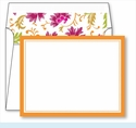 Orange Border Small Flat Cards w/Coordinating Liner