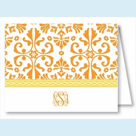 Orange Thistle w/Yellow Rope Note Cards - click to enlarge