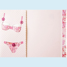 Padded Pink Lingerie Invitation - click to enlarge