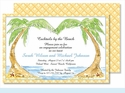 Palms Large Flat Invitation