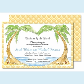 Palms Large Flat Invitation - click to enlarge