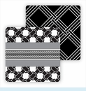 Paper Coasters - Black/White Weave