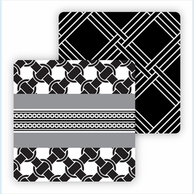 Paper Coasters - Black/White Weave - click to enlarge