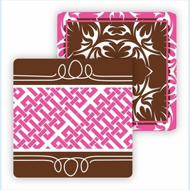 Paper Coasters - Chocolate Bold Floral - click to enlarge