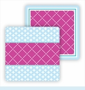 Paper Coasters - Fuchsia & Light Blue