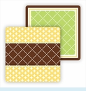 Paper Coasters - Lime & Chocolate