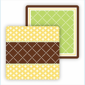 Paper Coasters - Lime & Chocolate - click to enlarge