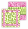 Paper Coasters - Lime Floral Tile