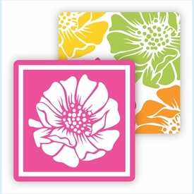 Paper Coasters - Multi Color Poppy - click to enlarge