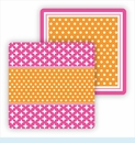 Paper Coasters - Orange & Hot Pink