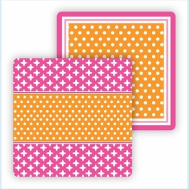 Paper Coasters - Orange & Hot Pink - click to enlarge