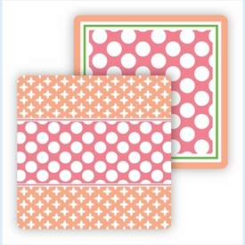 Paper Coasters - Pink & Coral - click to enlarge